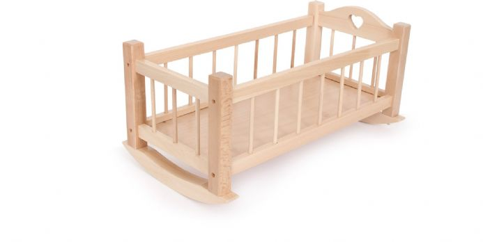 Wooden Dolls Cradle/Crib